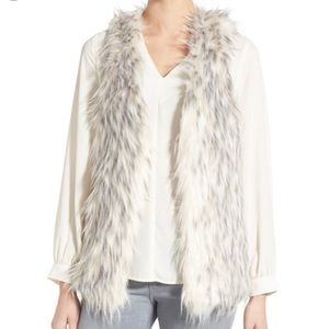 Kensie Faux Fur Vest Medium